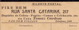 Postal Publicidade CASA TOMAZ CARDOSO Rua De Santa Catarina, 217 PORTO (Cofre, Fogoes, Camas, Etc). Postal Alvão - Porto