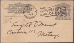 1904-EP-63 CUBA 1904. Ed.70. REPUBLICA. TARJETA ENTERO POSTAL. POSTAL STATIONERY. 1c. 1928. MARCA VISITE COLON. RARE. - Lettres & Documents
