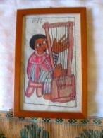 Ethiopie: Petite Peinture Encadrée - Art Africain