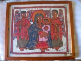 Ethiopie: Petite Peinture Encadrée - African Art