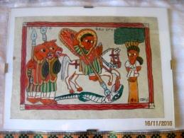 Ethiopie: Petite Peinture Sous-verre - African Art