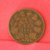 PORTUGAL 10 REIS 1883 -    KM# 526 - (Nº16819) - Portugal