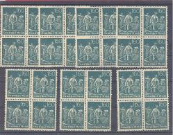 Reich  Michel #  170  **  4-er Block   7 Stück - Germany