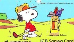 Télécarte Japon * CHIEN SNOOPY (440) BD COMICS * DOG Japan PHONECARD * HOND * HUND - Comics