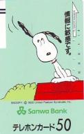 Télécarte Japon * CHIEN SNOOPY (447) BD COMICS * DOG Japan PHONECARD * HOND * HUND - Stripverhalen