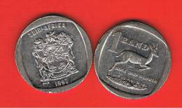 SUD AFRICA -  1 Rand 1997  KM164  - Gacela /  Springbok  - Animal Coin - Sudáfrica