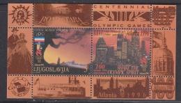 Yugoslavia 1996 Olympic Sommergames Atlanta M/s ** Mnh (33611N) - Zomer 1996: Atlanta