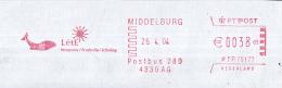 Nederland - LétE - Integratie/scholing/productie - Middelburg - Zeeland - Walvis - Roodfrankering Op Fragment - Marcofilie - EMA (Print Machine)