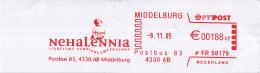 Nederland - NEHALENNIA - Middelburg - Zeeland - Voortgezet Onderwijs - Roodfrankering Op Fragment - Marcofilie - EMA (Print Machine)
