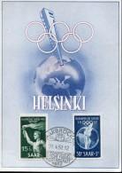 15621 Saar,  Maximum 1952 Olympiade Of Helsinki,   Sommer Olympiade Helsinki,  Very Scarce !