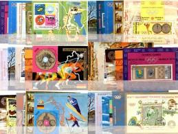 Motiv-Blocks Yemen 30 Blöcke O 150€ Sport Theater Kunst Oper Kultur Music Hoja Blocs Painting Olympic Ms Sheets Bf Jemen - Briefmarken
