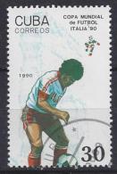 """Cuba  1990  Football World Cup """"Italia`90"""" (o) 30c - Cuba"""