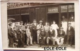 93 - Carte Photo - DUGNY - Cafe - A LA CIVETTE - Place D´Armes - Devanture - Restaurant - Localisation A Verifier - Dugny
