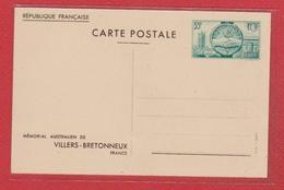 Entier Postal Spécial / 400 - CP 1 / Mémorial Australien De Villers Bretonneux / NEUF