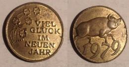 GETTONE TOKEN JETON FICHA  GERMANIA VIEL GLUCK IM NEUEN JAHR - Germania