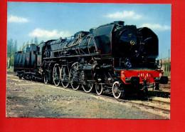 Train - Chemins De Fer - Locomotive 241 A 1 , Ex. 41.001 EST (1925) (Photo R. Floquet ) - Trains