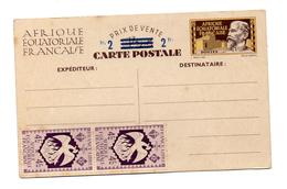 A.E.F. ENTIER POSTAUX  CARTE POSTALE NEUF AVEC COMPLEMENT D'AFFRANCHISSEMENT - Autres
