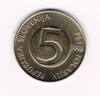 °°° SLOVENIE 5 TOLARJEV  1998 - Slovénie