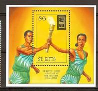 Saint-Christophe Saint Kitts 1996 Yvertn° Bloc 23 *** MNH Cote 7 Euro Sport - St.Kitts-et-Nevis ( 1983-...)