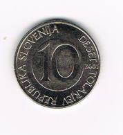°°° SLOVENIE 10 TOLARJEV  2001 - Slovénie