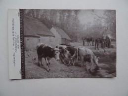 SALON 1912 J.J.ROUSEAU Rentrée à La Ferme Heimkehr Troupeau De Vaches N° 1293 - Vaches