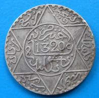 Colonies Maroc Morocco 2 1/2 Dirhams 1/4 Rial Argent AH1320 1902 1903 LONDON Lec.147 Y.20.2 - Maroc