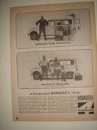 """Publicité Ad 1964 """" VAutomobiles RENAULT 4 """" - Advertising"""