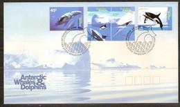 AAT Australie Antarctique 1995 Yvertn° 102-105 (°)  Used Cote 7,50 Euro Faune Baleines - FDC