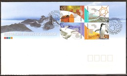 AAT Australie Antarctique 1995 Yvertn° 149-152 (°)  Used Cote 8,00 Euro Faune - FDC