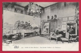 "CPA Thomery - By Thomery - Atelier De Rosa Bonheur - Son Dernier Tableau ""La Foulaison"" - Francia"