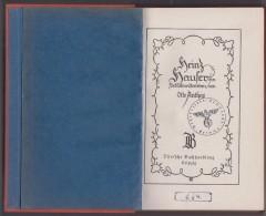 Livre - Heinz Haufer Ein Schulmeifterleben Von Otto Anthes ( Cachet Militaire Wehrbezirke Kommando Grima) - Livres, BD, Revues