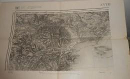 Carte D´Etat Major. Cannes. Antibes. Révisée En 1896. - Cartes Topographiques