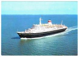 RB 1128 - Postcard - Ship M/S Mikhail Lermontov- Baltic Shipping Company - Maritime Theme - Paquebote