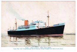 RB 1128 - Shipping Plain Back Card - Ship R.M.S. Loch Garth - Maritime Theme - Roayl Mail Line - Paquebote