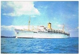 RB 1128 - Shipping Postcard P & O Ship S.S. Chusan - Maritime Theme - Paquebote