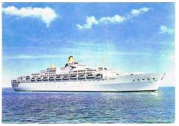RB 1128 - 1973 Shipping Postcard Ship P & O Oriana - Posted Bermuda 15c SG 294 Good Slogan - Paquebote