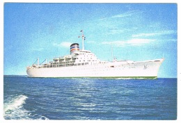 RB 1128 - South Africa Ship Postcard - S.A. Vaal - Shipping Maritime Theme - Paquebote