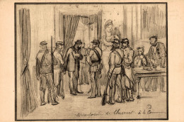 ARRESTATION DU GENERAL CLUSERET A LA COMMUNE  (croquis De Slom ) - Personaggi