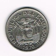 °°° ECUADOR  UN SUCRE  1970 - Equateur