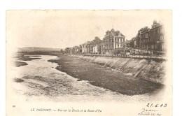 CPA 76 Le Tréport Vue Sur La Bresle Et La Route De Eu - Le Treport
