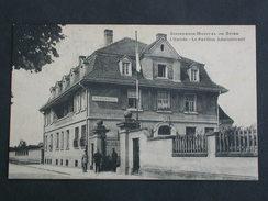Ref5526 CPA Animée Infirmerie Hopital De Spire - L'entrée Pavillon Administratif N°4 - 1924 Cormault Imp. Militaria - Militaria