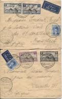 Egypte 2 L./Avion écrit Par Tondeur Délégué Du Congo Belge à La Conférence Des Télécommunications Du Caire 1938 PR3630 - Poste Aérienne: Lettres