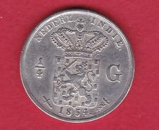 Indes Néerlandaises - 1/4 Gulden - Argent - 1854 - India