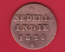 Indonésie Néerlandaise - 1/2 Stuiver - 1825 S - [ 4] Kolonies