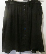 * PROMOD * JUPE HABILLEE NOIRE * VOILE POLYESTER DOUBLEE * Taille 42 * - Autres