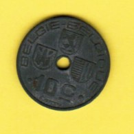 BELGIUM  10 CENTIMES 1942 (KM # 126) - 1934-1945: Leopold III