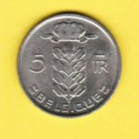 BELGIUM  5 FRANCS 1978 (FRENCH) (KM # 134.1) - 05. 5 Francs