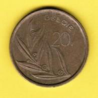 BELGIUM  20 FRANCS 1982 (DUTCH) (KM # 160) - 07. 20 Francs