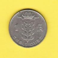 BELGIUM  1 FRANC 1972 (FRENCH) (KM # 142.1) - 1951-1993: Baudouin I