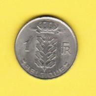 BELGIUM  1 FRANC 1975 (FRENCH) (KM # 142.1) - 04. 1 Franc